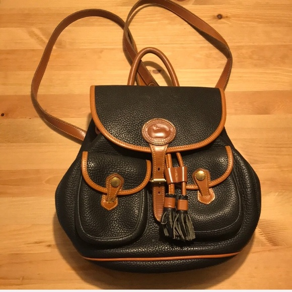 Vintage Dooney and Bourke Leather Backpack